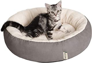 TEMPCORE Cat Bed for Indoor Cats Grey,20inch Pet Bed for Cats or Small Dogs,Anti-Slip & Water-Resistant Bottom,Grey