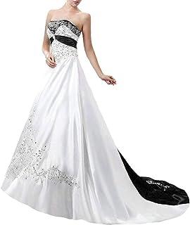 Brautkleider in schwarz weiß