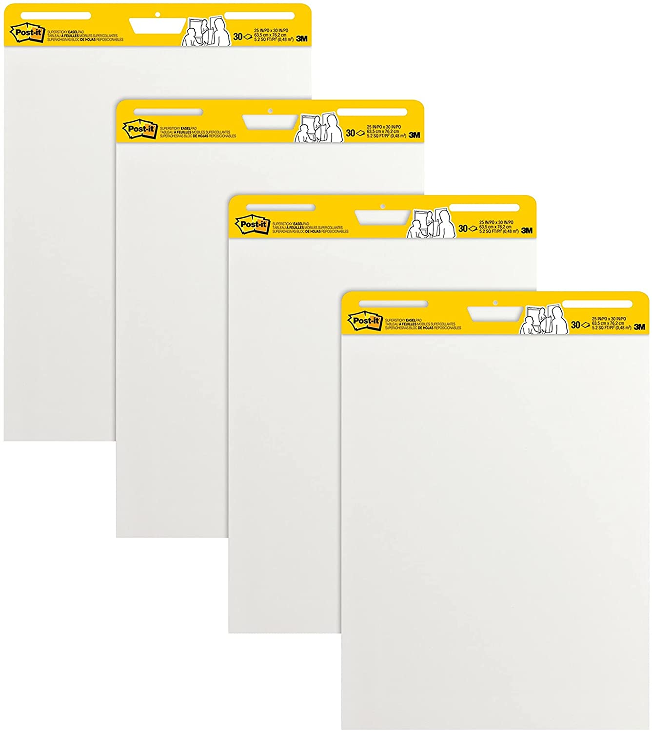 Post-it Max 80% OFF Super Sticky Easel Pad 25 x shop 30 Sheets Inches 4