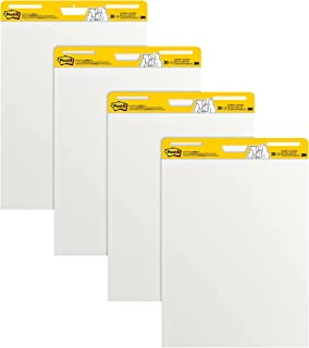 Post-it Super Sticky Easel Pad, 25 x 30 Inches, 30 Sheets/Pad, 4 Pads, Large White Premium Self Stick Flip Chart Paper, Su...