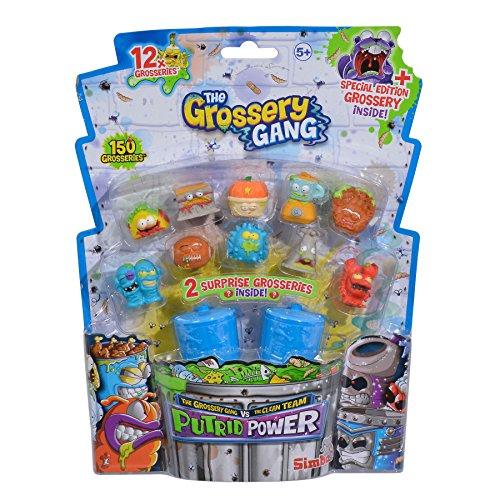 Grossery Gang- Set 12 Unidades con 2 Cubos de Basura (Simba 9291022)