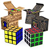 aGreatLife The Cube 3x3 Bundle of 2 for All Ages | New Buttery Smooth Turning Speed Cube: Turns Quicker and More Precise Than Original ; Super-Durable with Vivid Colors 3x3 Cube and Cube Fiber