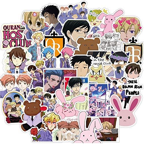 WOKAO Comics Anime Pegatina portátil Equipaje Impermeable Doodle Pegatina calcomanía niños Juguetes clásicos 50 Piezas