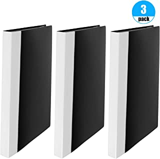 JIKIOU 40-Pocket Bound Sheet Protector Presentation Book, 80-Page Capacity Clear Pockets Sleeves Protectors, Top Loading Acid Free Plastic Sleeves for 11 x 8.5-Inch Inserts, 3 Pack, Black