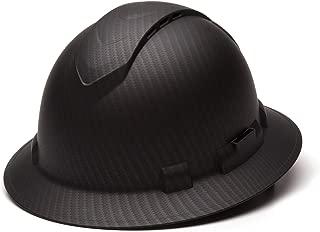 Pyramex Ridgeline Full Brim Hard Hat, Vented, 4-Point Ratchet Suspension, Matte Black Graphite Pattern