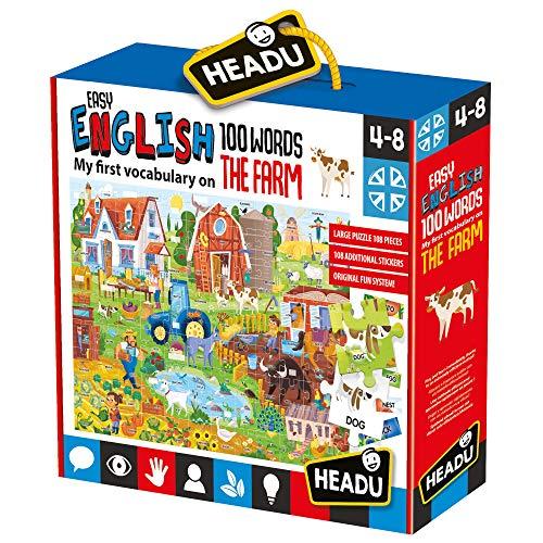 Easy English 100 Words Farm   Juego Educativo, Multicolor, IT20997