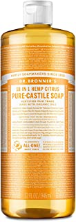 Dr. Bronner's - Pure-Castile Liquid Soap (Citrus, 32 ounce) - Made with Organic Oils, 18-in-1 Uses: Face, Body, Hair, Laun...