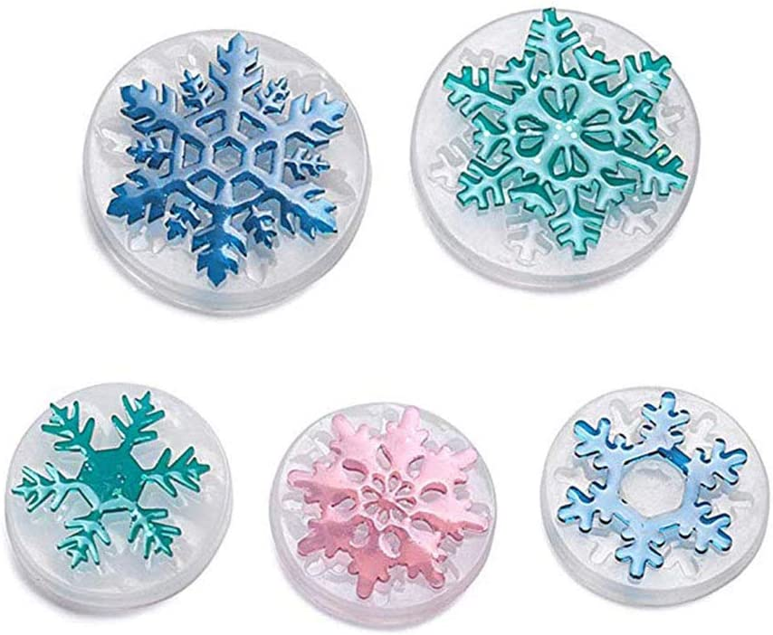 5pcs Snowflake Necklace Pendant Epoxy Silicone Crafti Mold Same day shipping Resin Recommendation