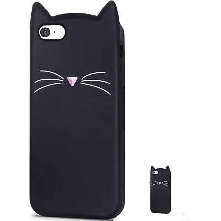 HopMore Compatibile con Cover iPhone 5S / SE / 5 Silicone Gattina Disegni 3D Divertenti Gomma Morbido Custodia iPhone SE / 5S Antiurto Protettiva Slim ...