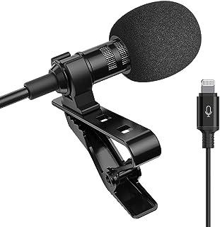 میکروفون حرفه ای برای آیفون Lavalier Lapel خازن چند جهته میکروفون ضبط صدا صوتی تصویری فیلم ضبط آسان کلیپ Lavalier برای Youtube ، مصاحبه ، کنفرانس برای آیفون / آی پد / آی پاد (IOS 6.6ft)