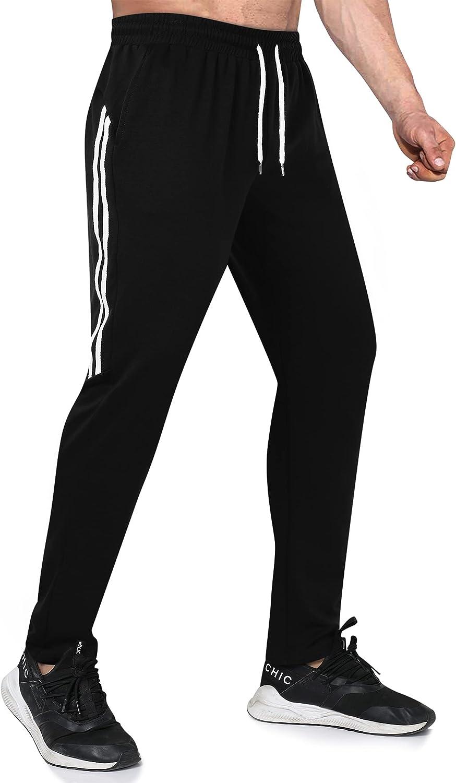 KOJOOIN Pantalones Deportivos para Hombre con Bolsillos con Pantalon Chandal de Algodón Hombre Pantalones Casual Deporte Entrenamiento Fitness