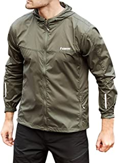Eagle Claw Men's Sun Protection Clothing Thin Windbreaker Lightweight UV Protect Jacket
