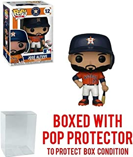 POP! Sports MLB Houston Astros, Jose Altuve Away Jersey Action Figure (Bundled with Pop Box Protector to Protect Display Box)