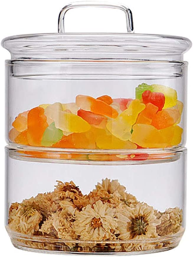 YLLN 3-Tier Glass Food Jar Clear Manufacturer direct Direct store delivery J Lid Storage with