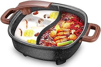 fondue electrique Multifonctionnel électrique Hot Pot à usage domestique, 6l pierre de couleur Double saveur Hot Pot, rési...