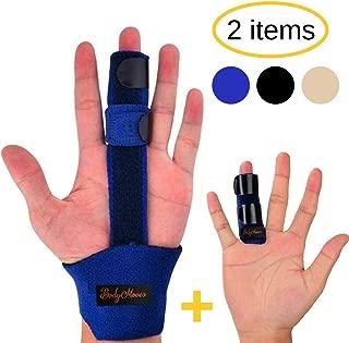 BodyMoves Finger Splint and Finger Extension Splint Trigger Finger Mallet Finger Broken Finger Post Operative Care Finger Knuckle immobilization Injury (Aqua Blue)