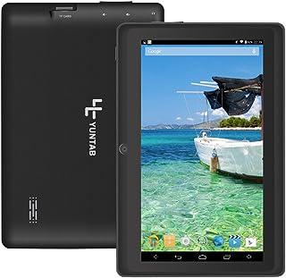 【2019年進化版】YUNTAB 7インチタブレット Q88 Tablet PC 1GB RAM+8GB ROM Android 4.4.2 クアッドコア 1.5GHz HD1024*600 google play WIFI Bluetooth (ブラック)