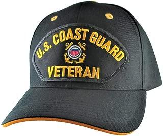 Coast Guard Veteran Ball Cap for Men, Military Patch Baseball Hat