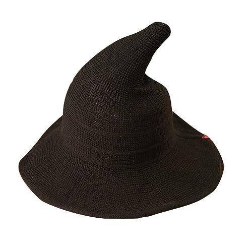 Luoke Women Summer Witch Cotton Sun Hat Foldable Costume Ball Hat Cap 80a9140a03b6