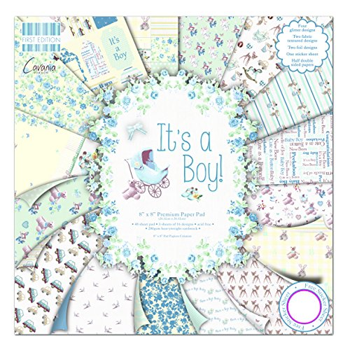 First Edition Its a Boy - Bloc de de Papel para Manualidades