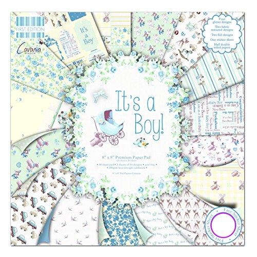 First Edition It's a Boy - Bloc de de Papel para Manualidades