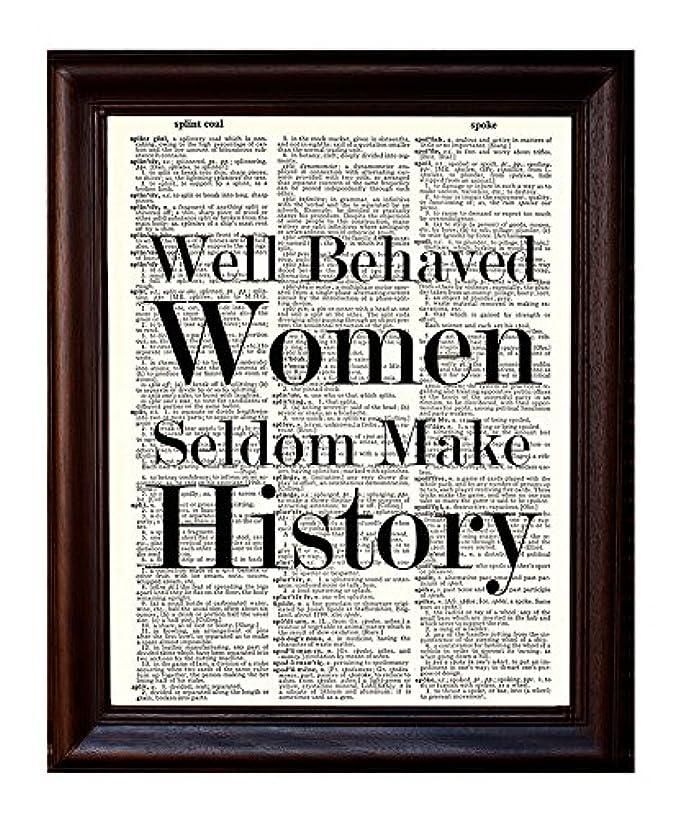 Well Behaved Women - Dictionary Art Print