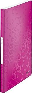 30 buste e 60 facciate Formato A4 Colore della copertina  Rosa Exacompta 88327E Portalistini Opak in polipropilene opaco con buste interne lisce ad alta trasparenza