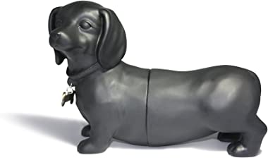 Danya B. NY8026B Unique Decorative Expandable Dachshund Bookend Set for Dog Lovers- Black