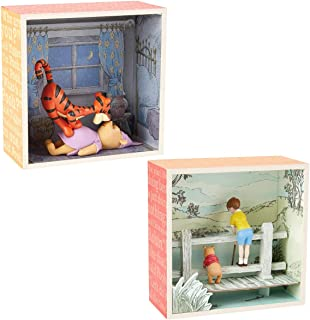 Hallmark (2 Piece Winnie The Pooh Disney Figurines Sets Shadow Box Figures: Tigger and Pooh Bear, Best Friends