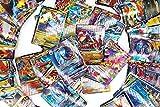 100 Poke Cards, TCG Style Card Holo EX Full Art : 20 Mega + 20 GX + 59 EX Arts + 1 Energy, Holiday Toy Gifts for Kids