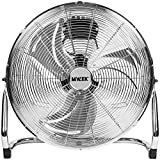 """MYLEK High Velocity Floor Fan Air Circulator Industrial Cooling 18 Inch Cool Cold Chrome - 3 Speed Portable - Adjustable Tilt for Gyms, Offices and Warehouses (18"""")"""