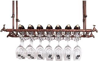 Casiers à vin Support mural, Porte-verre à vin suspendu, Hauteur réglable, Organisateur de supports à verres à pied, Port...