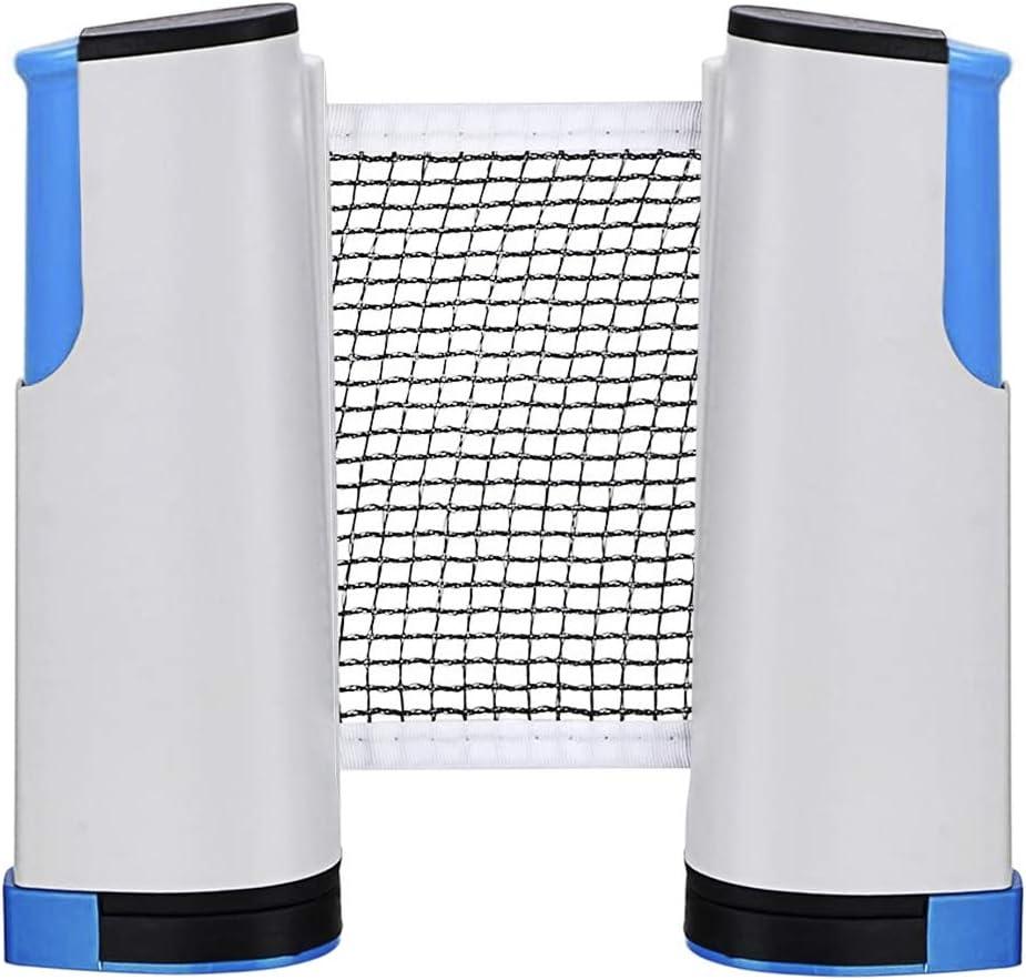 RUIXIA Tragbares Tischtennisnetze Tischtennis Netze Max x 15cm Justierbarer Versenkbare Ping Pong Ersatznetz Zubeh/ör Net Reisehalter ideal f/ür alle Tischtennisplatten Einstellbare L/änge 170