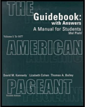 Guidebook With Answers A Manual For Students