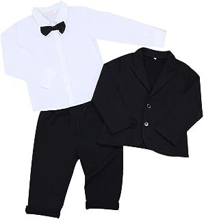 TiaoBug Anzug-Weste schwarz//blau Gr.98-152 Kinder Jungen Weste Smoking Anzug Anzugweste festlich