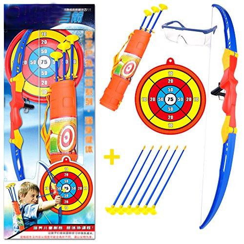 Sicherheit Kinder Outdoor Spiele Spielzeug Bogen & Pfeil & Halter Bogenschießen Set mit Saugnapf Pfeile Ziel Spiele # 04