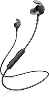 Philips E4205BK/00 In-Ear Headphones Bluetooth with Inline Remote Control (8.2-mm Neodymium drivers, BASS Boost Button, 10...