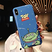 YWCXMYLDL-AE Fun toy story graphic glossy IMD soft phone case For iphone X XR XS MAX 6 6S 7 8 Plus soft silicon case for iphone X Case capa (Color : A-B, Size : For iphone 7plus)