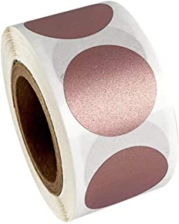 Package of Circular Scratch Rose Gold Stickers Labels 300