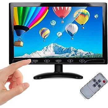 BEYI 10.1インチ液晶 小型 IPSモニター、 超薄高解像度1024×600車載ディスプレイ、 AV/VGA/HDMI入力、内蔵スピーカー、携帯用のTFT LCD CCTVビデオディスプレイ、 タッチボタン、セキュリティ監視カム用、接続 Pi Xbox 360 Windows 7/8/10対応