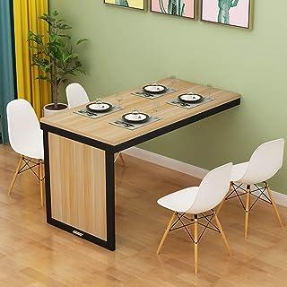 HX Table de Salle à Manger Extensible pour Salle à Manger de Cuisine, Table de Console Pliante Murale, Table à abattant po...