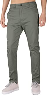 THE AWOKEN Men's Chino Casual Pants 5 Pockets Slim Fit Business Golf Dress