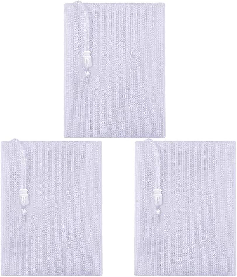 fedsjuihyg Fina Bolsa De Malla del Filtro del Acuario Bolsa De Malla De Nylon Piscina Skimmer Filtro Calcetines Reemplazo Filtro De Piscina 3pcs Piscina Infantil Accesorios