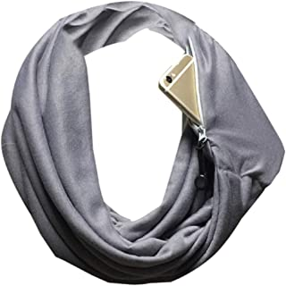 RkYAO Women's Scarf Solid Pockets Soft Warm Infinity Loop Circle Scarf