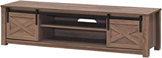 Lwieui Mesas para TV Gabinete TV Moderno Minimalista TV Cabineta Traducción Barn Door TV Gabinete (Color : Chocolate, Size...