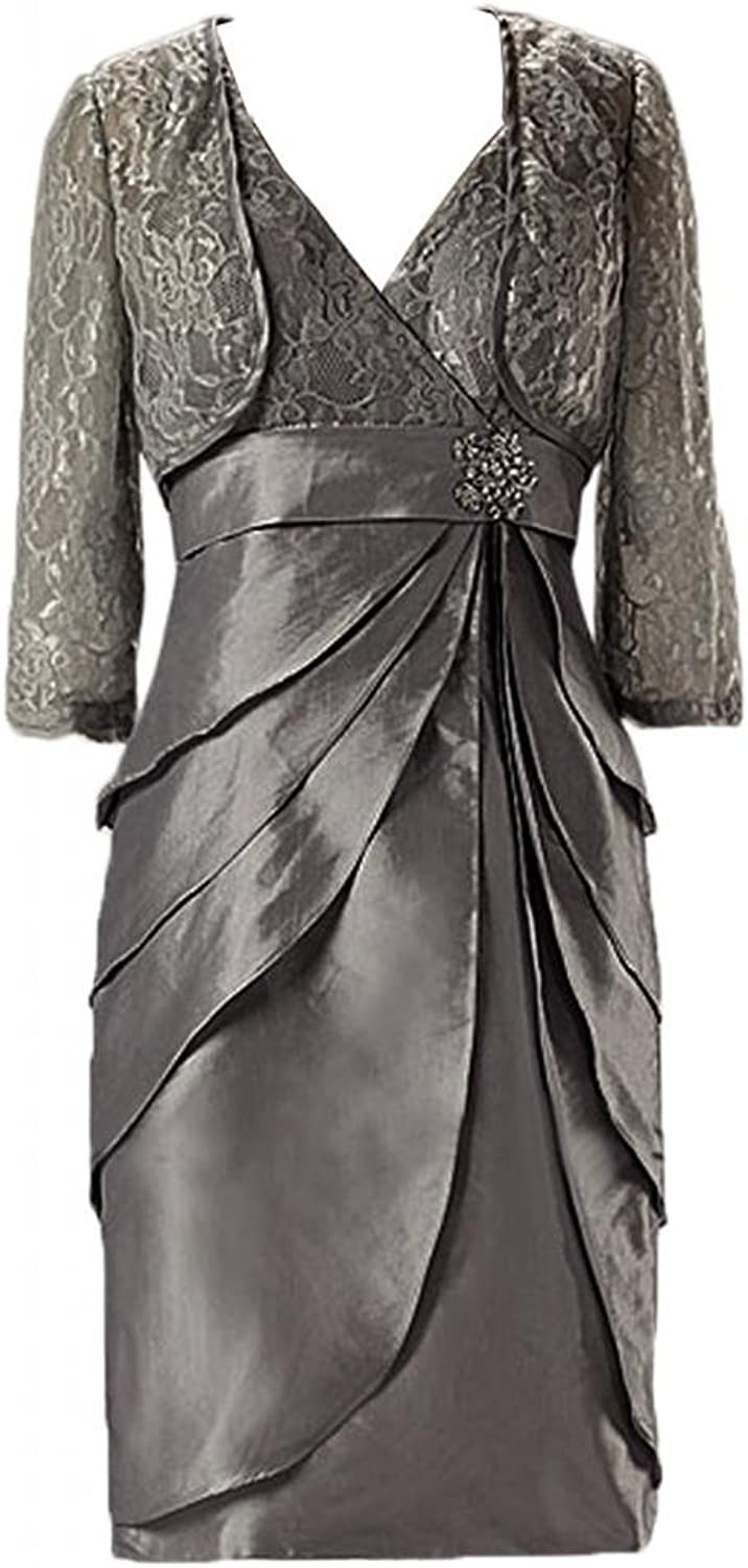 Angel Bride Column Taffeta Mother of the Bride Dresses with Jacket