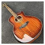 GaYouny Guitarra Armés de Guitarra acústica KOA Guitarra eléctrica acústica Media Recta de Guitarra acústica eléctrica (Color : Guitar, Size : 40 Inches)