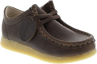 FOOTMATES Wally Low Wallabee Oxford Brown Oiled - 9125/13.5 Little Kid M/W