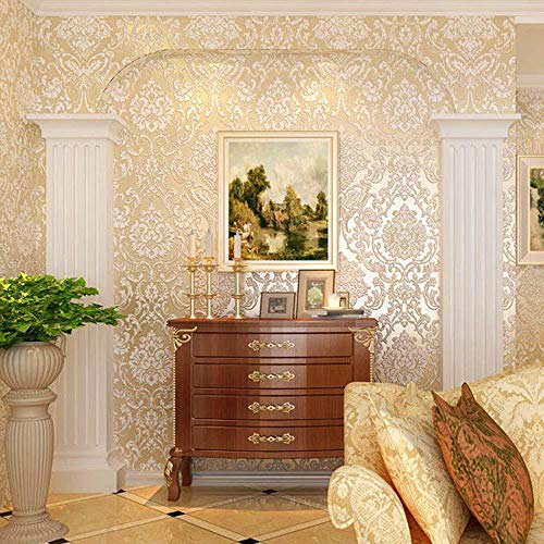 bjyxszd Furniture stickers self adhesive53cmX10m wallpaper self-adhesive non-woven fabric home living room renovation wallpaper, 3D TV background wall paper-8
