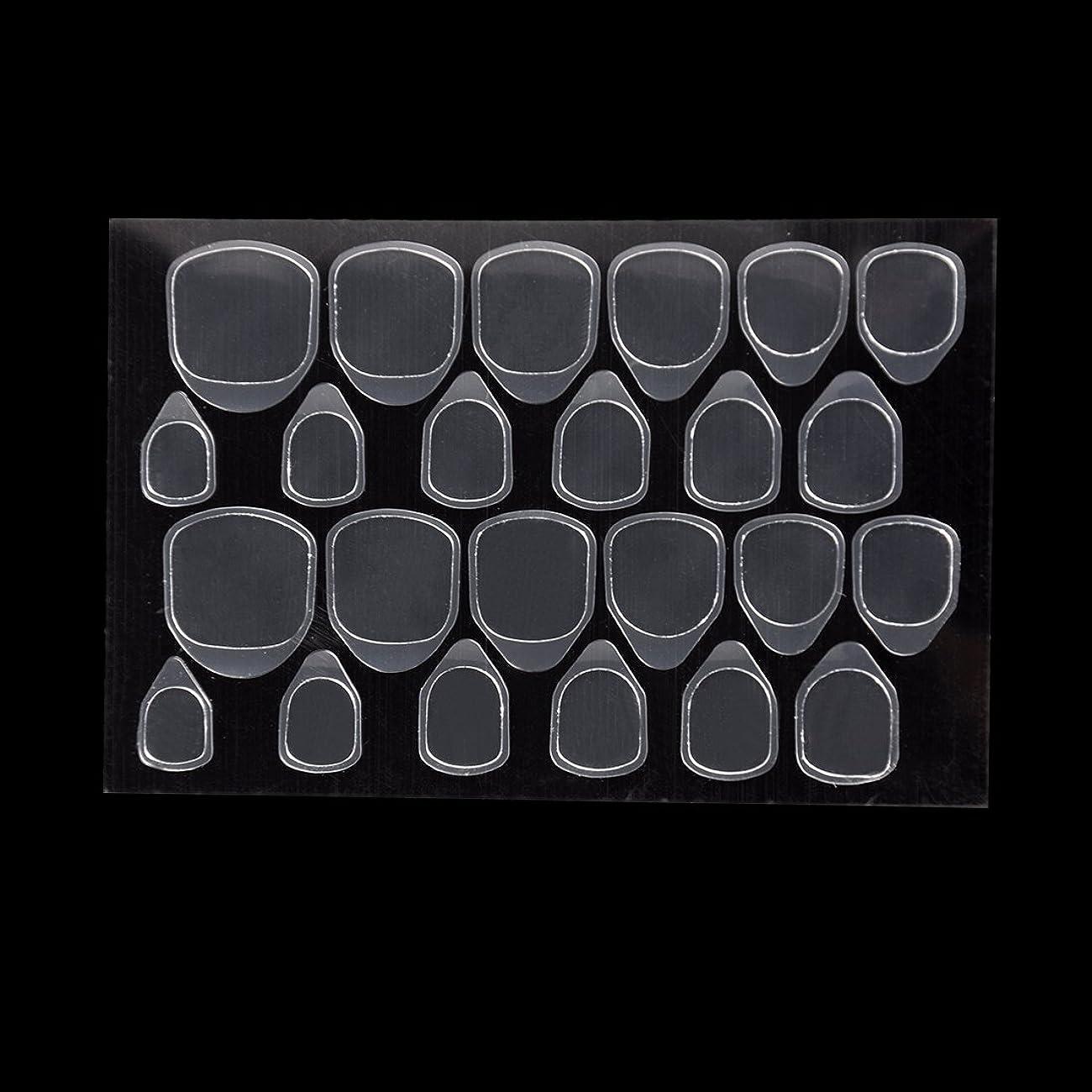 マイルド手荷物恒久的Biutee つけ爪用 両面テープ ネイル 推奨超強力両面テープ ネイル両面接着剤 ネイルチップ用粘着グミ 10枚セット